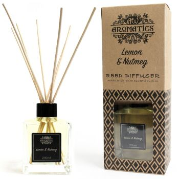 200ml Lemon & Nutmeg Essential Oil Reed Diffuser Room Fragrance