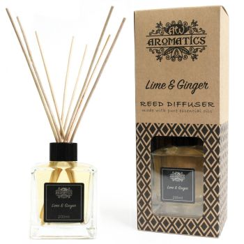 200ml Lime & Ginger Essential Oil Reed Diffuser Room Fragrance