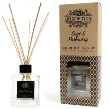 200ml Sage & Rosemary Essential Oil Reed Diffuser Room Fragrance