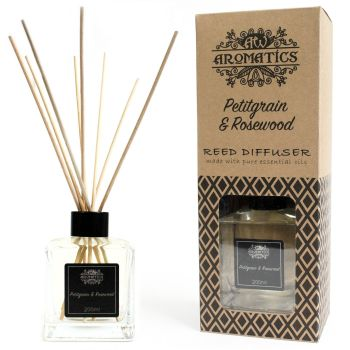 200ml Petitgrain & Rosewood Essential Oil Reed Diffuser Room Fragrance