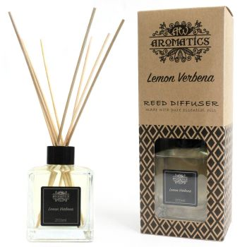200ml Lemon Verbena Essential Oil Reed Diffuser Room Fragrance