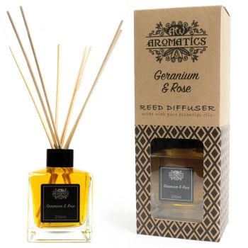 200ml Geranium & Rose Essential Oil Reed Diffuser Room Fragrance