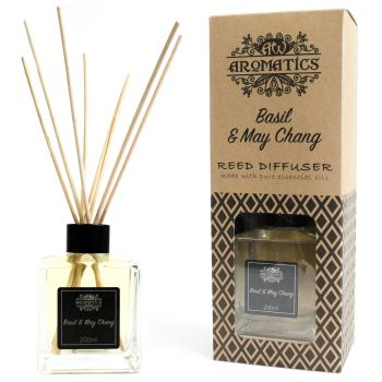 200ml Basil & Maychang Essential Oil Reed Diffuser Room Fragrance