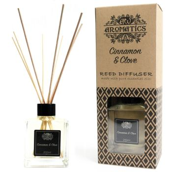 200ml Cinnamon & Clove Essential Oil Reed Diffuser Room Fragrance