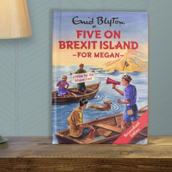 Personalised Enid Blyton FAMOUS FIVE for Grown Ups Book - FIVE On BREXIT ISLAND