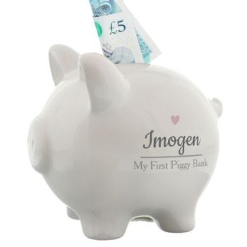 Personalised HEART PIGGY BANK