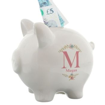 Personalised INITIAL PIGGY BANK