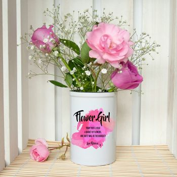 Flowergirl Personalised Miniature Champagne Bucket