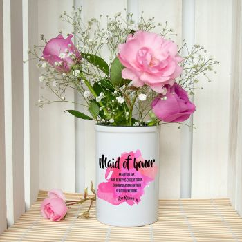 Maid of Honour Personalised Miniature Champagne Bucket