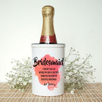 Bridesmaid Personalised Miniature Champagne Bucket