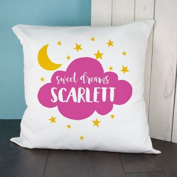 Personalised Sweet Dreams Cushion Cover VARIOUS COLOURS