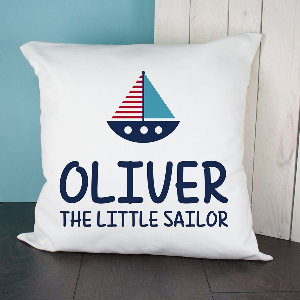 Personalised Little Sailor Cushion Cover