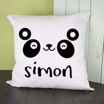 Personalised Cute Panda Eyes Cushion Cover