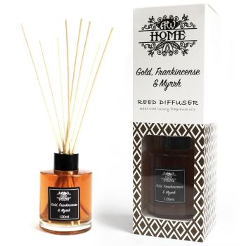 120ml Gold, Frankincense & Myrrh Reed Diffuser Room Fragrance
