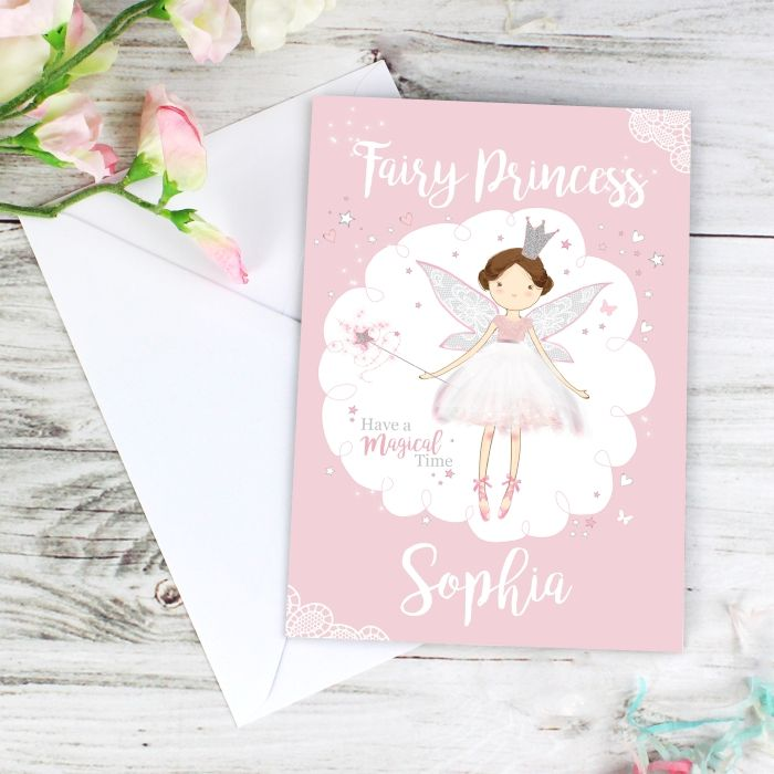 Details About Personalised FAIRY PRINCESS Card Fairy Birthday Cards Childrens Sister