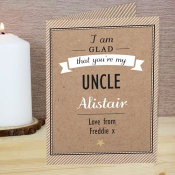 Personalised I'M GLAD YOU'RE MY... Card