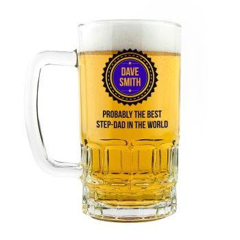 Personalised 'Probably The Best Step-Dad In The World' Tankard