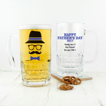 Personalised Hipster Dad's Beer Tankard