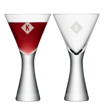 Personalised LSA Monogrammed Wine Glasses Set of 2 - Diamond