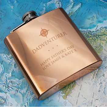 Personalised Dadventurer Hip Flask