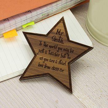 Personalised My Teacher Is A Star Fridge Magnet