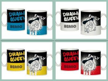 Personalised BEANO Big Heads MINNIE Mug DRAMA QUEEN