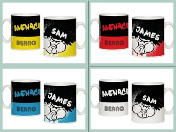 Personalised BEANO Big Heads DENNIS Mug MENACE MUG