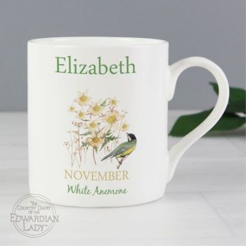 Personalised NOVEMBER Birthday Monthy Mug