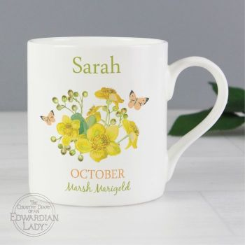 Personalised OCTOBER Birthday Monthy Mug