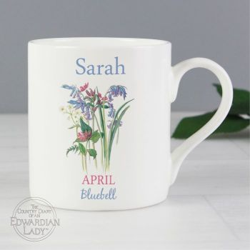 Personalised APRIL Birthday Monthy Mug