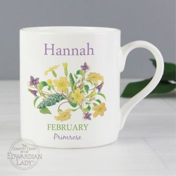 Personalised FEBRUARY Birthday Monthy Mug