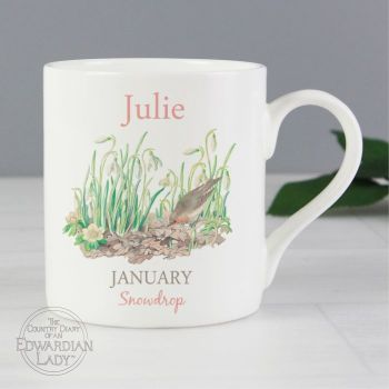 Personalised JANUARY Birthday Monthy Mug