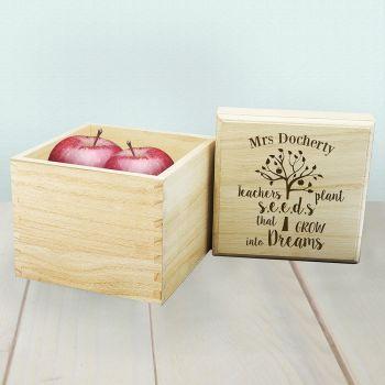 Personalised Teachers Plant Seeds... Cube Box