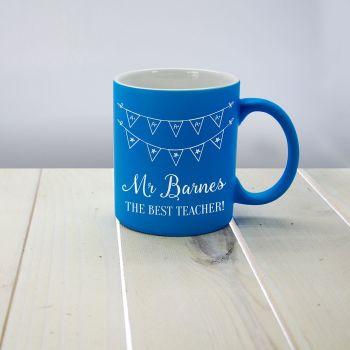 The Best Teacher Matte Coloured Mug
