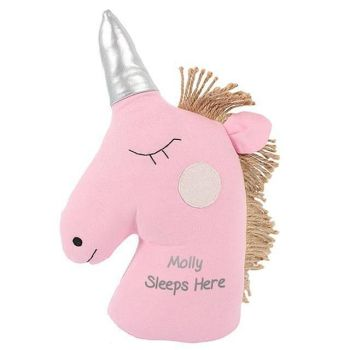 Personalised UNICORN DOOR STOP