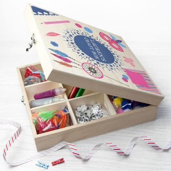 Personalised Girls Craft Box