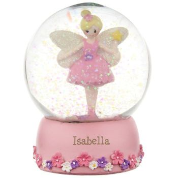 Personalised FAIRY SNOW GLOBE, Christmas Snow Globe, Childrens snow globe