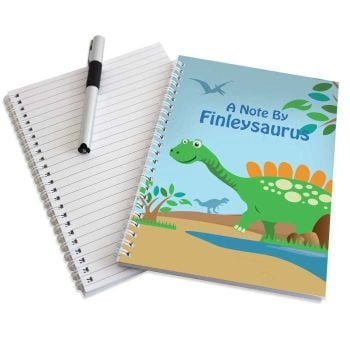 Personalised DINOSAUR Notebook, School Notepad Jotter Notebook