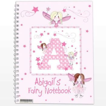 Personalised FAIRY Notebook, School Notepad Jotter Notebook