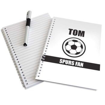 Personalised BLACK & WHITE FOOTBALL Notebook - Newcastle Notts