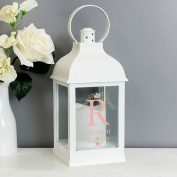 Personalised INITAIL WHITE Lantern