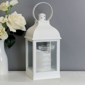 Personalised WHITE Lantern