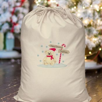 Personalised CANDY CANE Christmas Sack