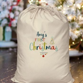 Personalised MY FIRST Christmas Sack