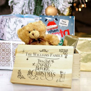 Personalised Large Wooden TWAS THE NIGHT BEFORE... Keepsake Box