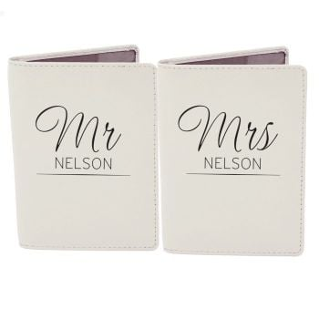 Personalised Passport Cover - MR & MRS Passport Covers