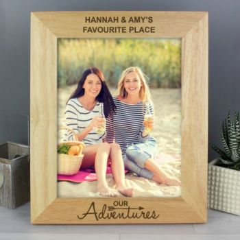 Personalised 10'' x 8'' ADVENTURES / TRAVELLING Photo Frame