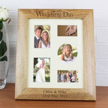Personalised 10'' x 8'' WEDDING DAY Photo Frame