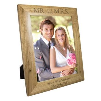 Personalised 10'' x 8'' MR & MRS Photo Frame