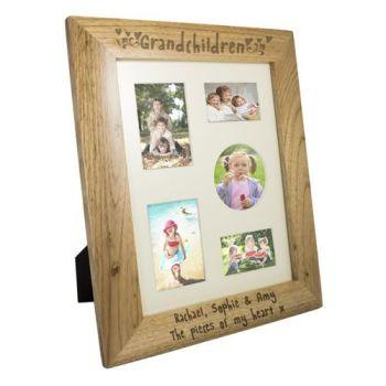 Personalised 10'' x 8'' GRANDCHILDREN Photo Frame